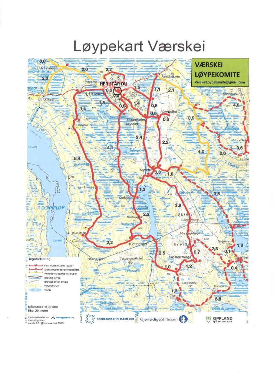 kart over gausdal vestfjell Røde Kors Hytta på Værskei   Gausdal Vestfjell/Langsua  kart over gausdal vestfjell