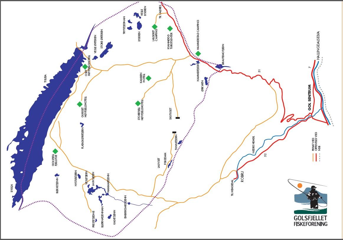 kart over golsfjellet Fiske på Golsfjellet | Visit Gol kart over golsfjellet